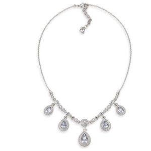 Carolee Ella Crystal Teardrop Necklace